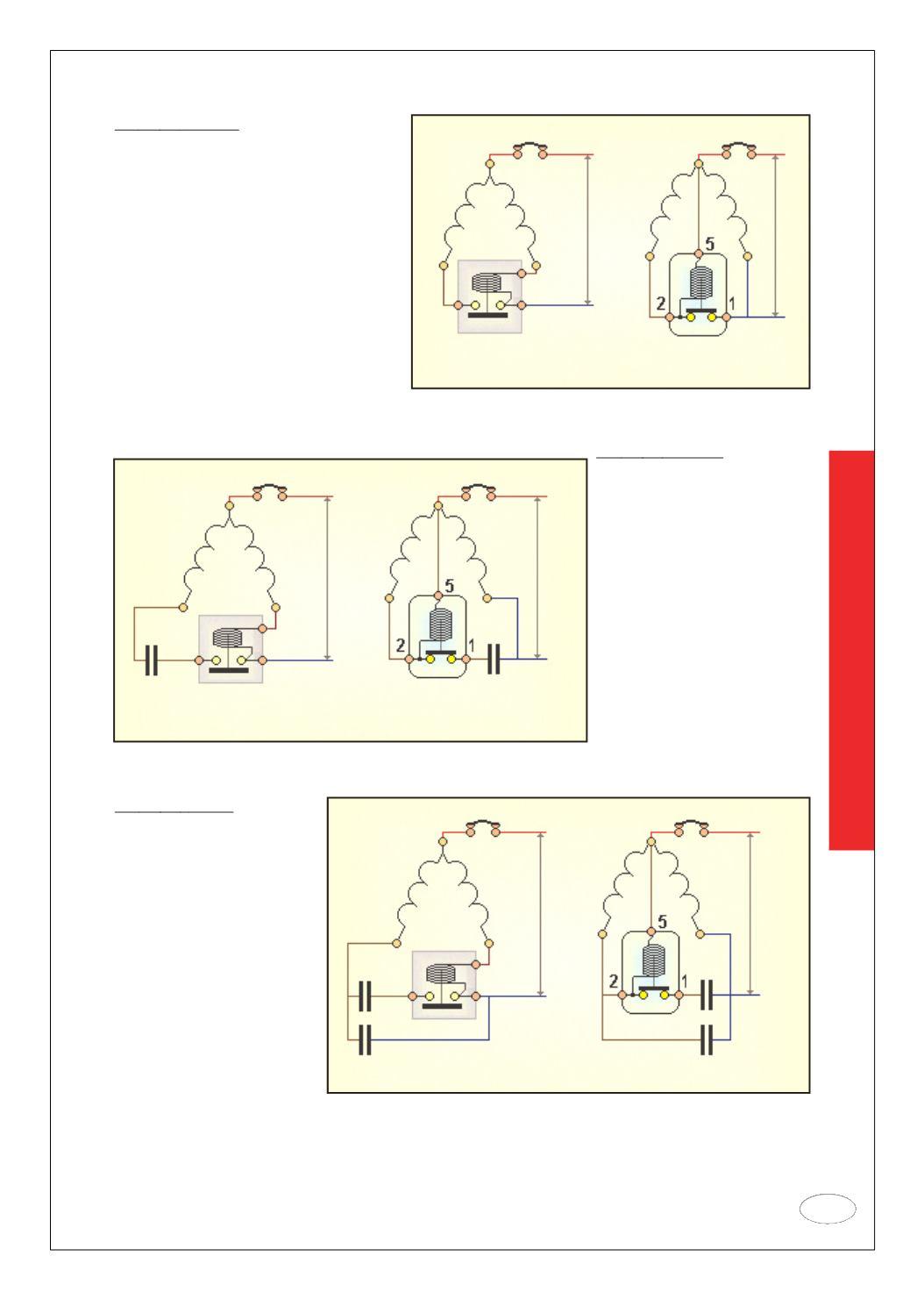 Схема однофазного двигателя с конденсатором